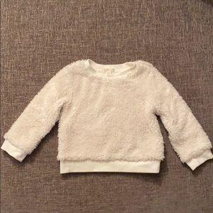 crewcuts sherpa pullover sweatshirt/sweater